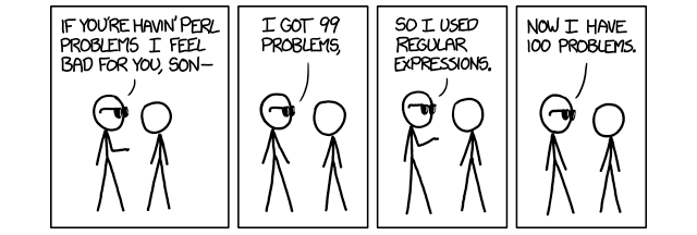 Regular expression problems